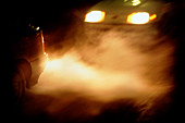 Car exhaust fumes causing pollution