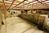 Dining room of a Roman villa,Herculaneum