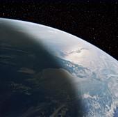 Enhanced shuttle image of the Florida peninsula