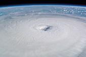 Eye of hurricane Isabel