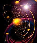 Planetary orbits,artwork