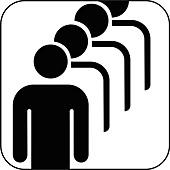 Male queue symbol,artwork
