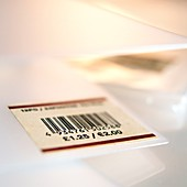 Barcoded price label