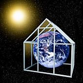 Greenhouse effect,conceptual artwork