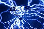 Diamond on a plasma disk