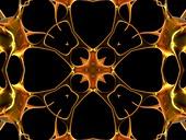 Neurons,kaleidoscope artwork