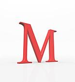 Greek letter Mu,upper case