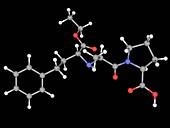 Enalapril drug molecule