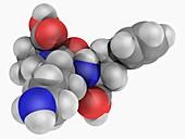 Lisinopril drug molecule