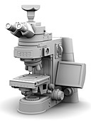 Optical light microscope with camera