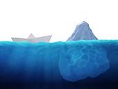 Iceberg danger,conceptual artwork