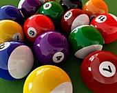 Pool balls,artwork