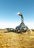 Robotic scorpion,artwork