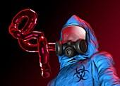 Ebola epidemic,conceptual artwork