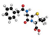 Penicillin G antibiotic molecule
