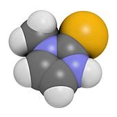 Methimazole hyperthyroidism drug molecule