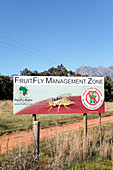 Fruit fly warning sign