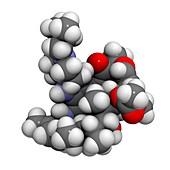 Rifabutin tuberculosis drug molecule
