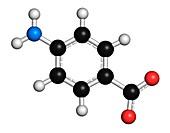 Para-aminobenzoic molecule