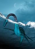 Prehistoric sea creature,illustration