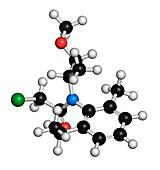 Metolachlor herbicide molecule