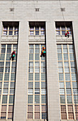 Window cleaners on building,Cape Town