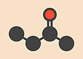 Butanone molecule