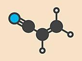 Acrylonitrile molecule