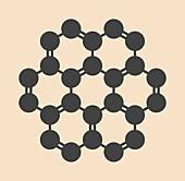Coronene hydrocarbon molecule