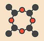 Metaldehyde pesticide molecule