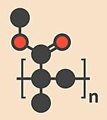 Acrylic glass polymer molecule