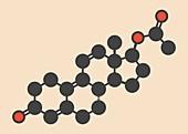 Trenbolone acetate molecule