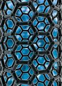 Carbon nanotubes,illustration