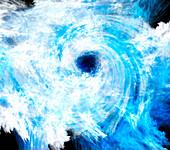 Fractal Cyclone,illustration