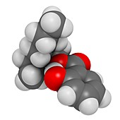 Octyl salicylate sunscreen molecule