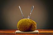 Jackfruit on table
