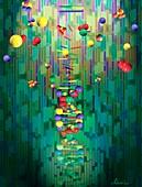 Mapping a genome,conceptual artwork