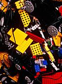 Assorted Lego bricks and cogs