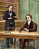 Ampere and Arago,French physicists