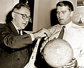 Wernher von Braun and Willy Ley
