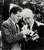 Niels and Aage Bohr,Danish physicists