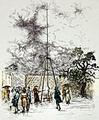 Dalibard's lightning experiment,1752