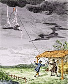 Franklin's lightning experiment,1752