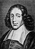 Engraving of Baruch Spinoza,Dutch philosopher
