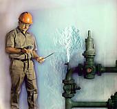 Gas leak,Schlieren image
