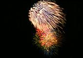 Aerial fireworks display