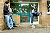 Teenager vomiting