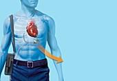 Mechanical heart pump,artwork