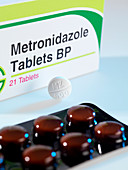 Metronidazole antibiotic pills