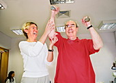 Physiotherapy weights exercise
